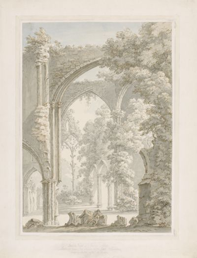 Inside View of Tintern Abbey looking from the...