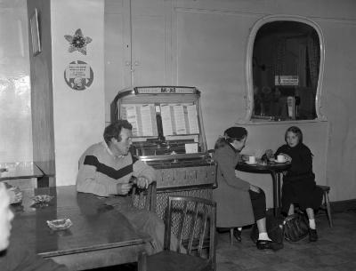 Welsh music was played on a juke-box in Bala,...