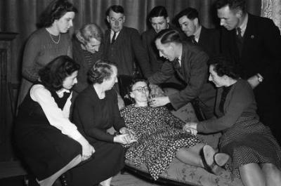 Llanrhaeadr-ym-Mochnant drama group, 1948