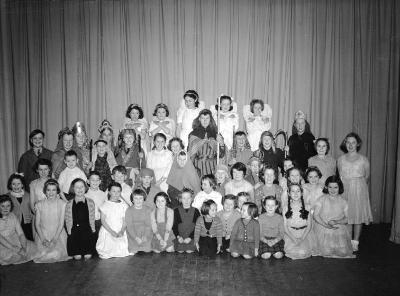 Nativity play by Dolgellau Urdd Branch, 1950s