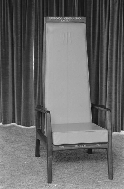 Cadair  Eisteddfod Genedlaethol Bangor, 1971