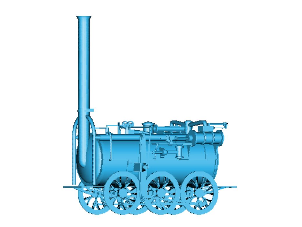3D model of 10 ½ inch locomotive 'Industry...