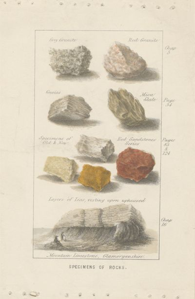 Specimens of Rocks. Proof of an Illustration...