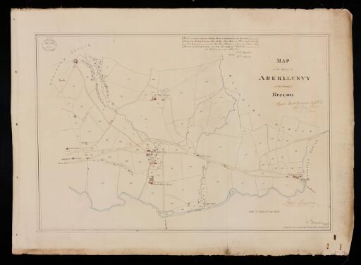 Map of the parish of Aberllunvy in the County...