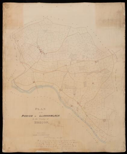 Plan of the parish of Llanhamlach in the County...