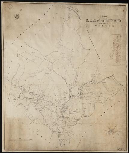 A plan of the parish of Llanwrtyd in the County...