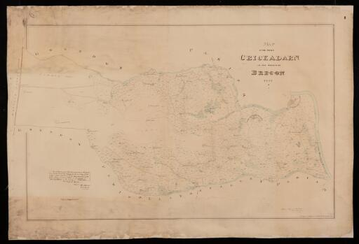 Map of the parish of Crickadarn in the County...