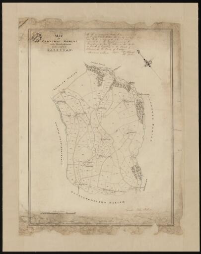 Map of Cydplwyf hamlet in the parish of Llanina...