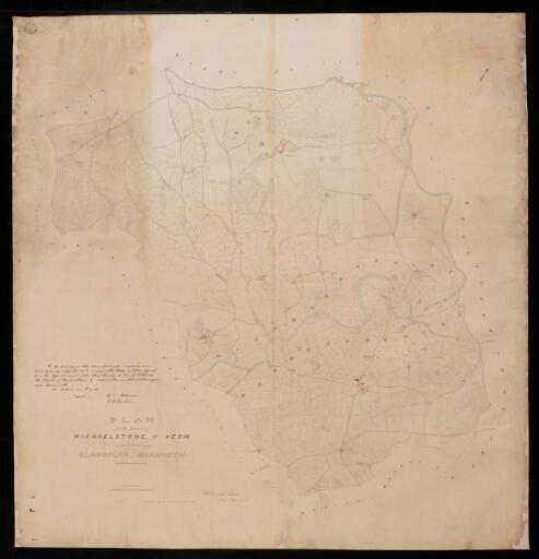 Plan of the parish of Michaelstone y Fedw in...