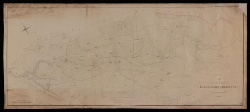 Map of the parish of Llanbadarn Trefeglwys,...