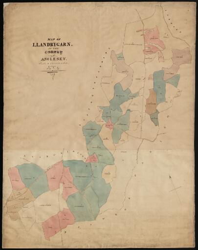Map of Llandrygarn parish in the County of...