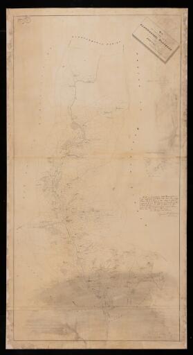 Map of the parish of Llanfihangel Nantbran in...