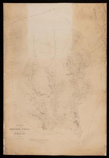 Plan of the parish of Merthyr Cynog in the...