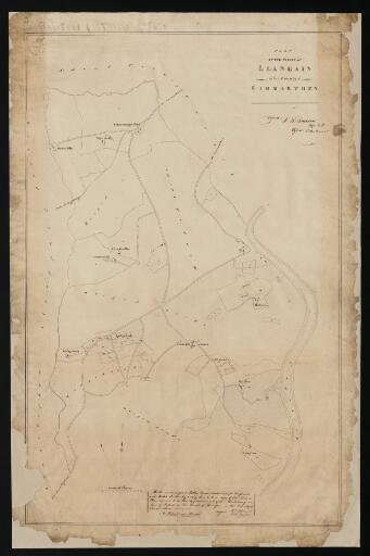Plan of the parish of Llangain in the County of...
