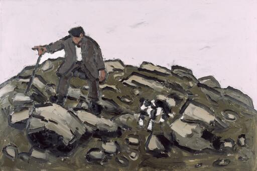 Farmer amongst the rocks