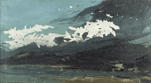 Dark hills, across the water