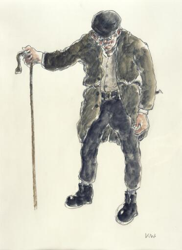 Farmer with stick