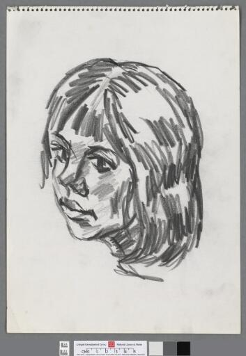 Head of a young girl, looking left