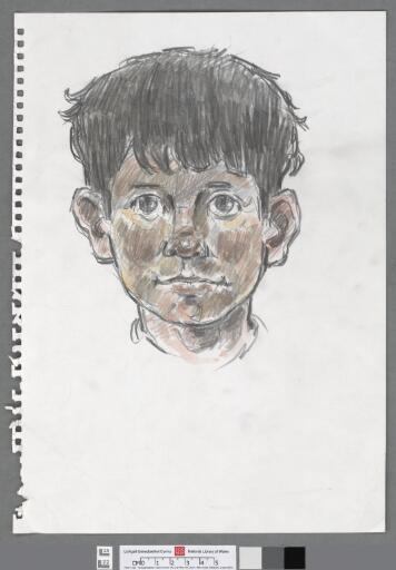 Head of a young boy looking forward