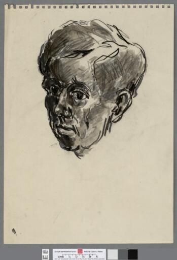 Head of a young man looking left