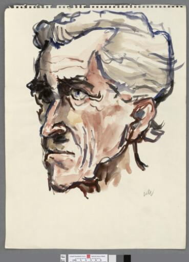 Head of a man looking left