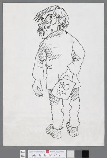 Self portrait holding a 80th birthday card