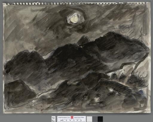 Tonal study of dark mountains