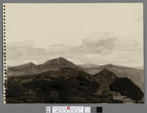 Tonal study of receeding mountains