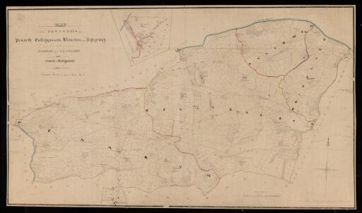 A map of the parish of Llanfair in the County...