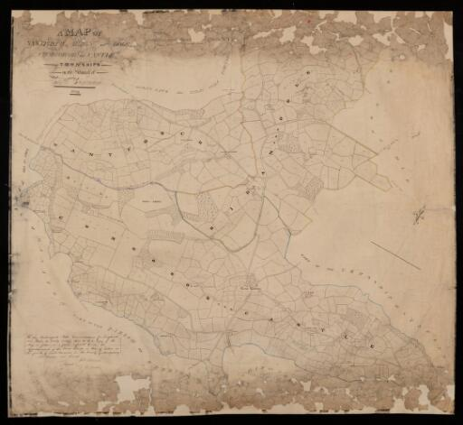 A map of Castle Caereinion parish in the County...