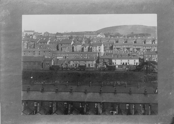 Abertillery with the King's Head Inn...