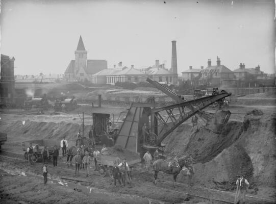 Unidentified Railway Construction Site ca.1905