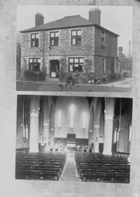Church interior & House ca.1905