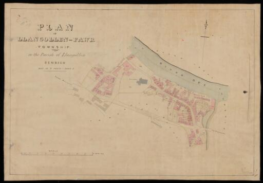Plan of Llangollen Fawr township in the parish...