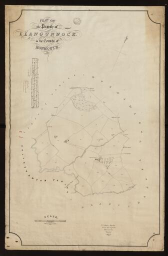 Plan of the parish of Llangunnock in the County...