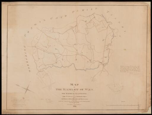 Map of the hamlet of Wen, in the parish of...