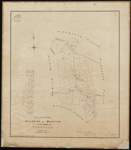 Plan of the chapelry of Mounton in the County...