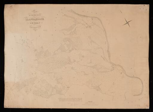 Plan of the parish of Llanbaddock in the County...