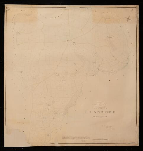 Second class map of the parish of Llantood,...
