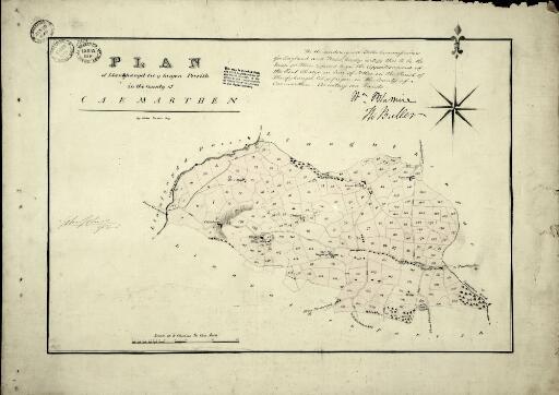 Plan of Llanfihangel Cil y Fargen parish in the...