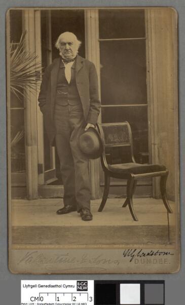 The right Hon W. E. Gladstone, Hawarden