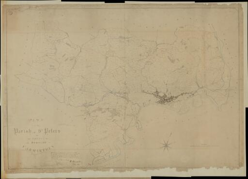 Plan of the parish of St Peters in the County...
