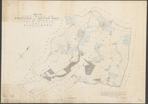 Plan of the townships of Bacheldre and Hopton...