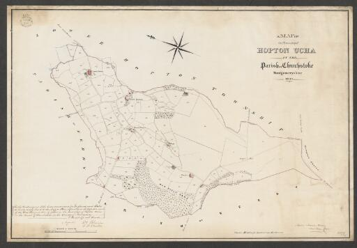 A map of the township of Hopton Ucha in the...