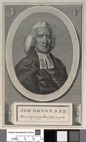 Job Orton, S.T.P Born Sepr.4.1717,died July 19...