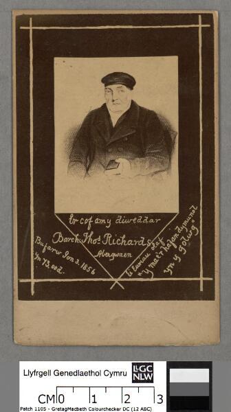 Er cof am y diweddar Thos. Richards Abergwaen...