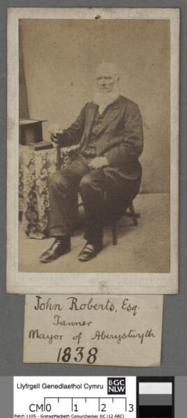 John Roberts Esq tanner & Mayor of Aberystwyth,...