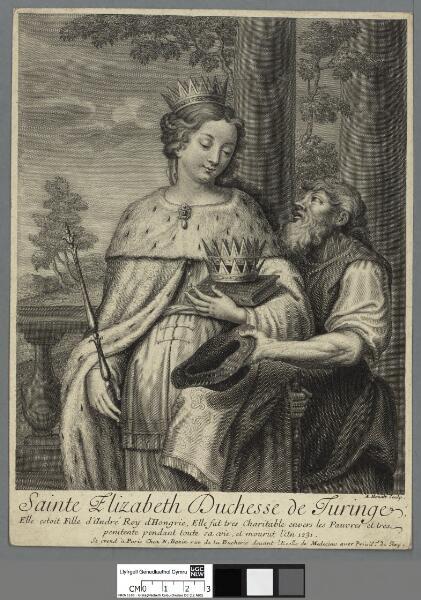 Sainte Elizabeth Duchesse de Turinge elle...