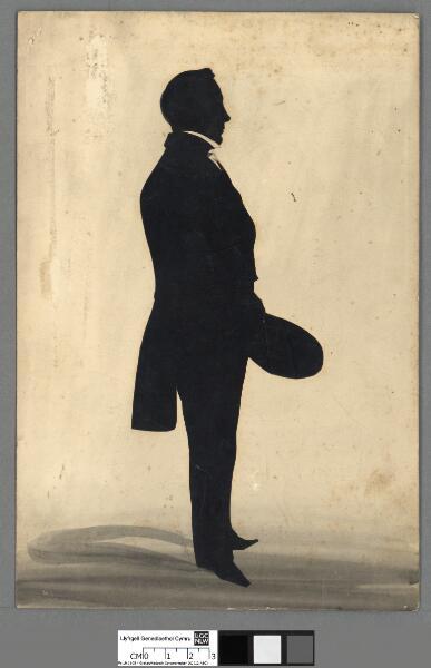 Silhouette of Owen Evans, Broom Hall