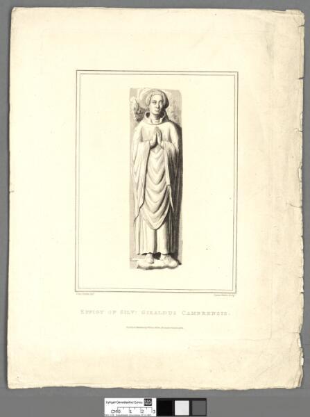 Effigy of Silv : Giraldus Cambrensis
